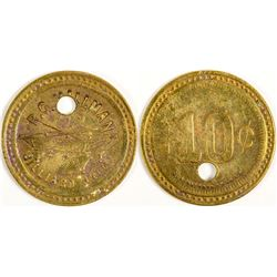 San Miguel, CA: R. G. Millman Billiard Hall Token  (77726)