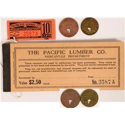 Scotia, CA: Pacific Lumber Co. Tokens & Scrip  (119130)