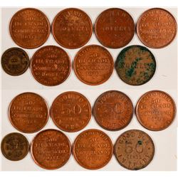 Eight Reno, Nevada Tokens  (108475)