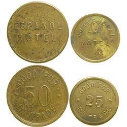 Espanol/Commercial Hotel Tokens  (89066)