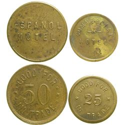 Espanol/Commercial Hotel Tokens  (89066)