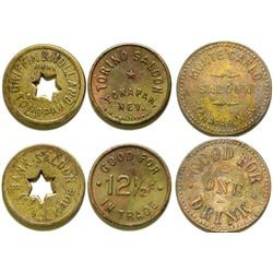Three Tonopah, Nevada Saloon Tokens  (108474)