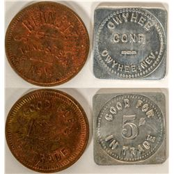 Tungsten and Owyhee, Nevada tokens  (108462)
