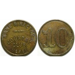 Kane & Rector Country Club Token  (101193)