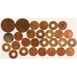 28 Nevada Tokens including unlisted Nevada Saloon from Manhattan!  (108477)