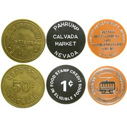 Three Different Nevada Town Tokens  (89042)