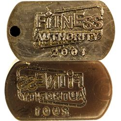 Matched Pair of Die and Stamp of Fitness Authority 2001 Company   (80026)