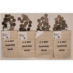 America the Beautiful Quarters in U.S. Mint Canvas Bags  (119777)