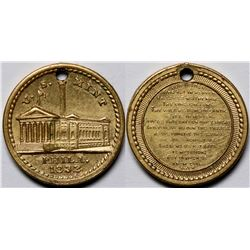 1832 U.S. Mint Philadelphia Religious Christian Medal Lord's Prayer  (118828)