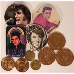 Elvis & Beatles Tokens & Pin Backs  (119639)