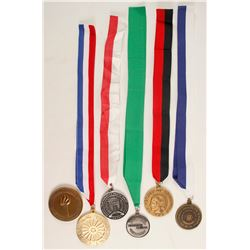 Five Ribboned Medals and a Medallion  (88646)