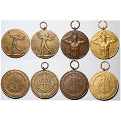 Four Intercollegiate Championship Medals  (118819)