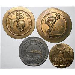 Four Uniface Collegiate & Club Medals  (118818)