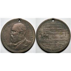 James A. Garfield Brass Commemorative Token  (118064)