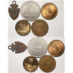 Miscellaneous American Medals/Tokens (5)  (120588)