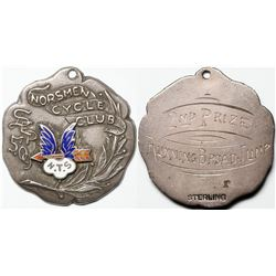 Norsmen Cycle Club Sterling Silver Medal  (118115)