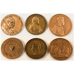 Three Large Bronze Medals  (58054)