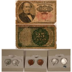 Fractional Currency and Coin Earrings  (117462)