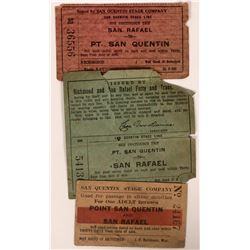 San Quentin Stage Company and San Rafael Ferry Scrip  (119112)