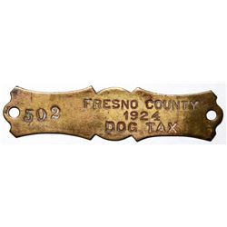 Fresno County Dog Tax Tag  (117615)