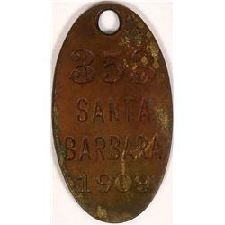 Santa Barbara Dog Tag  (119070)