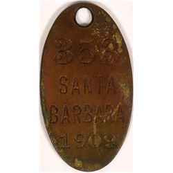Santa Barbara Dog Tag  (119070)