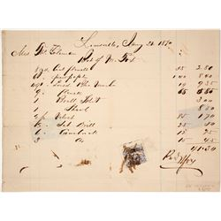Louisville, KY Document w/ Rare Revenue Stamp Usage  (77328)