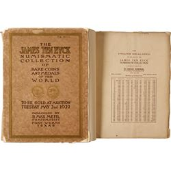 James Ten Eyck Auction Catalog by Max Mehl  (85548)