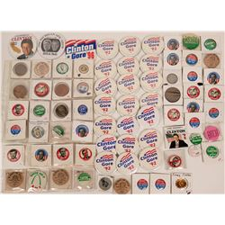 Carter Clinton Campaign Pin Backs  (118136)