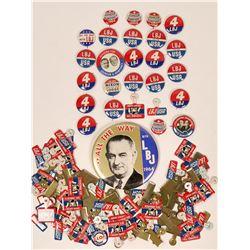 Lyndon B. Johnson-Hubert Humphrey Pinbacks  (118075)