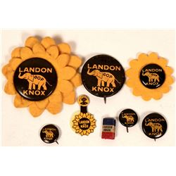 Alf Landon - Frank Knox Campaign Buttons  (118078)