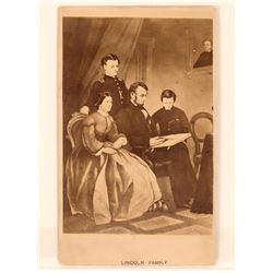 Lincoln Family CDV Pre- 1865  (111947)