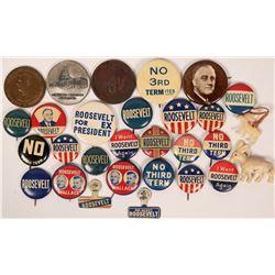 Franklin D. Roosevelt Tokens and Pinbacks  (118074)