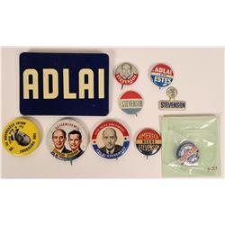 Adlai Stevenson Campaign Pin Backs  (118143)