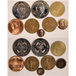 Truman Medallions & Taft Pin Backs  (118144)