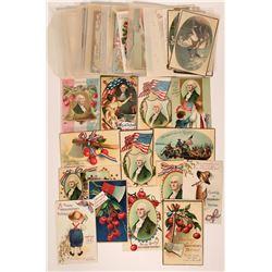 Large Group of George Washington Postcards (68)  (111741)