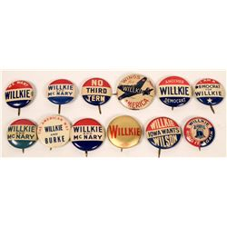 Wendell Willkie Campaign Buttons  (118076)