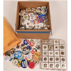 A Grab Bag of California Political Pin Backs & Buttons  (118140)