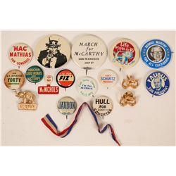 California Political Pin Backs  (118070)