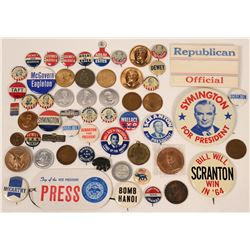 Presidential Pin Backs, Tokens & Medals  (118068)