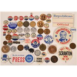Presidential Pin Backs, Tokens & Medals  (118068)