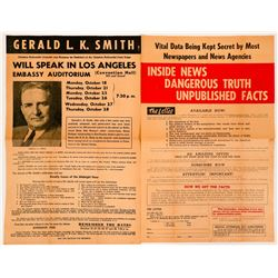 Newprint for Gerald L K. Smith presidential candidate of 1944  (115236)