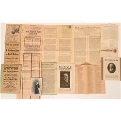 Temperance and Women's Suffrage Pieces  (118875)