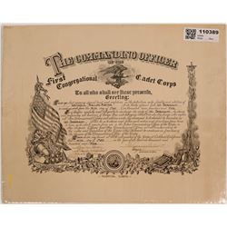 Original Hospital Corps 1St Sergeant Appointment Certificate  (110389)