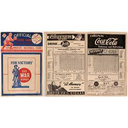 PCL Los Angeles Score Card, 1945  (119430)