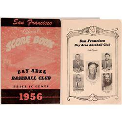 San Francisco  Seals 1956 Program  (119432)