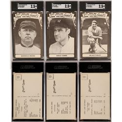 Combs, Brown, Bottomley TCMA Postcards  (119220)