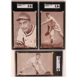 Eddie Waitkus, Steve Bilko, Alex Kellner Post Cards   (118164)