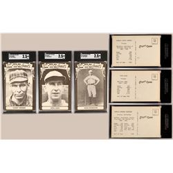 Three Hall of Fame Player Postcards  (119230)