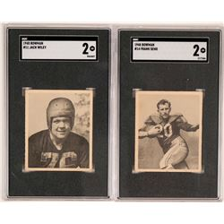 Two 1940's Football Player Trading Cards  (117199)